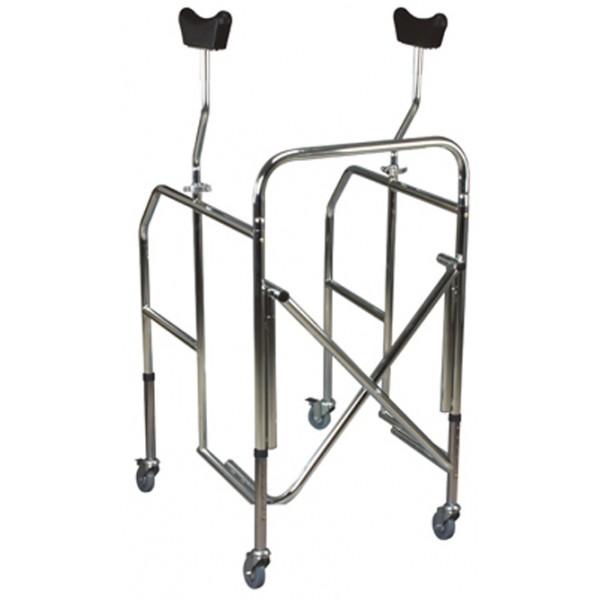 Sanitaria Estense noleggio-deambulatore scorrevole carrello carrellino con ascellari per riabilitazione